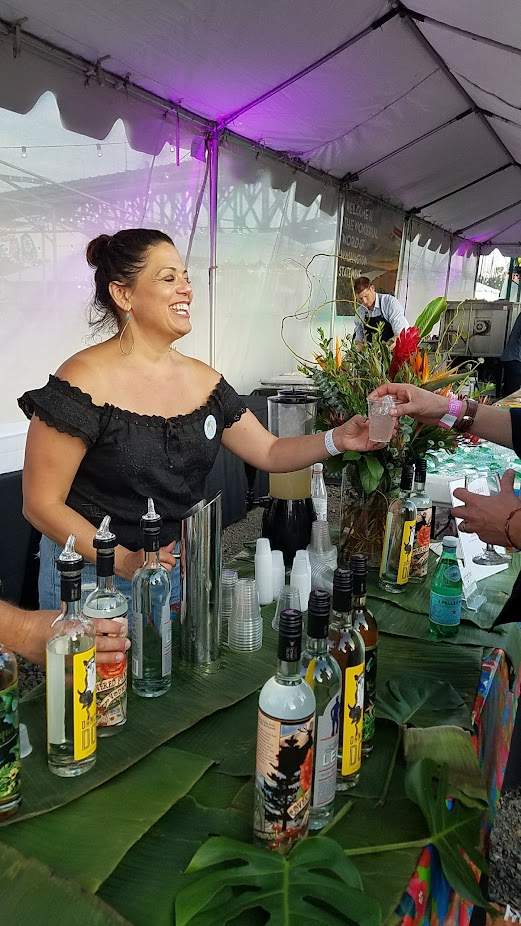 Recap of Feast Night Market 2017: Flooded Fox Den Distillery offered Honey Lavender Vodka Limeades or Leggy Daiquiri or Spirit Samplings of their Dancing Dog Gin, Covered Peak Vodka, Land Legs Rum, or Busqueda Aged Rum