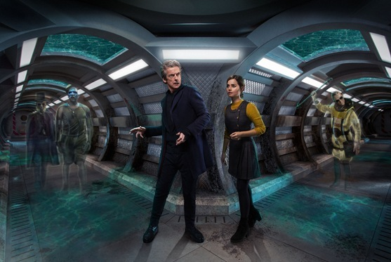 The Doctor and Clara in Under the Lake