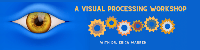 Picture of eye and brain cogs illustrating visual processing