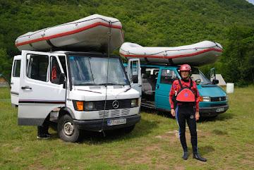 Jörg ist startklar zum Rafting