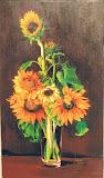 słoneczniki, olej, płótno, 60x90cm