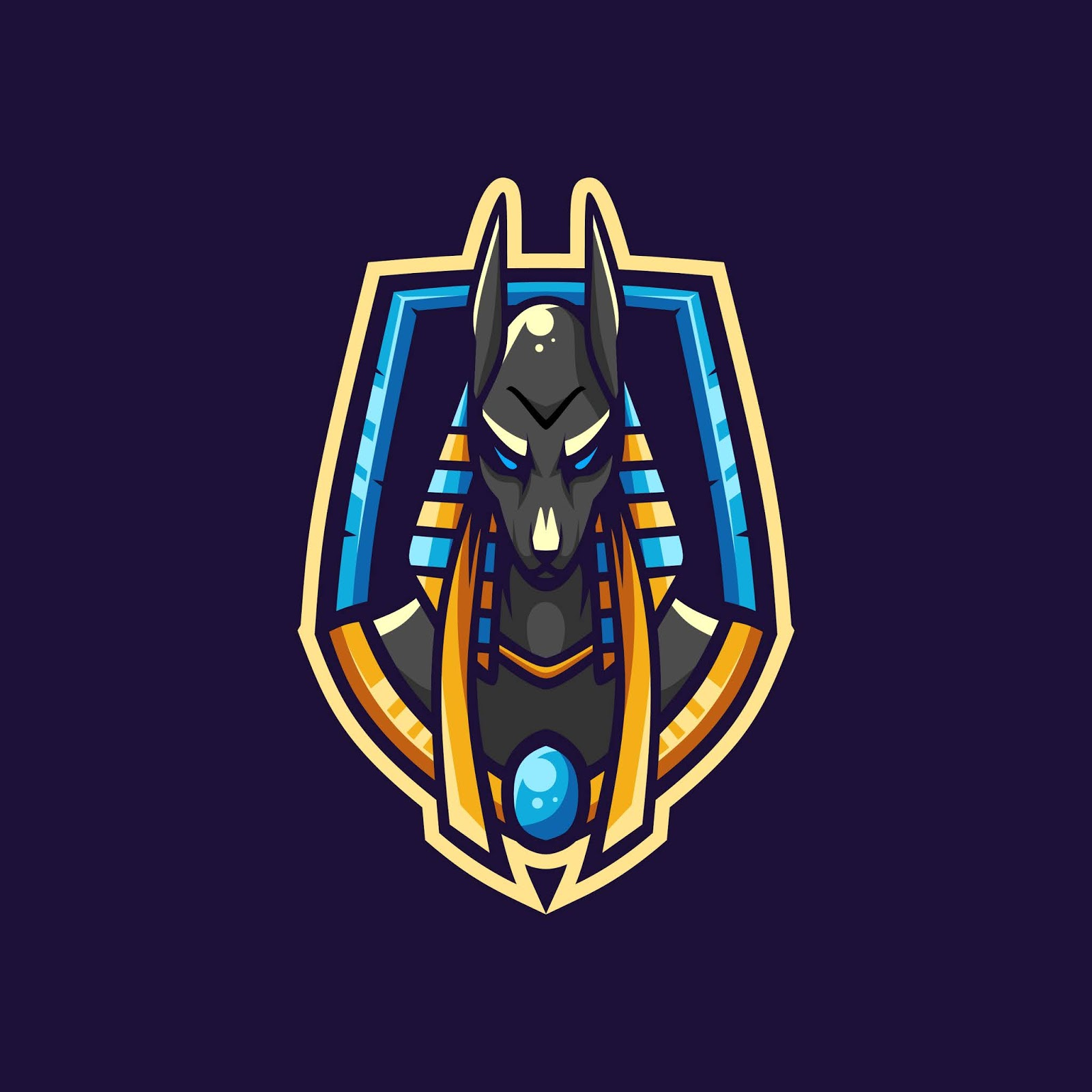 Awesome Anubis Esport Logo Free Download Vector CDR, AI, EPS and PNG Formats