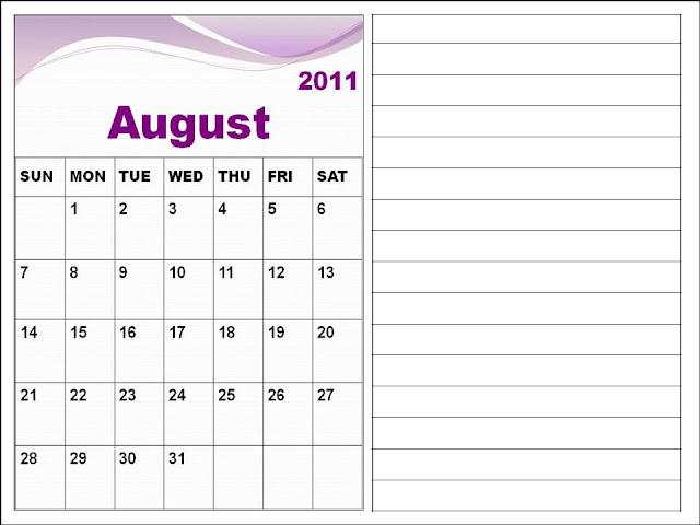 blank calendar 2011 australia. Blank Calendar 2011 August