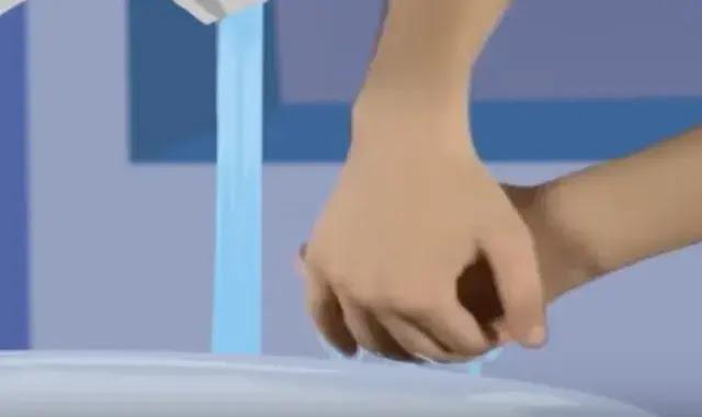 غسل اليدين في الوضوء