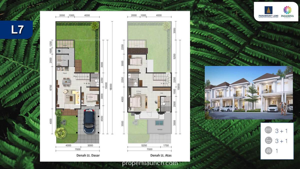 Rumah Pasadena Residence Tipe 7x15 Standard