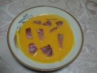 Soupe de potimarron à la coppa