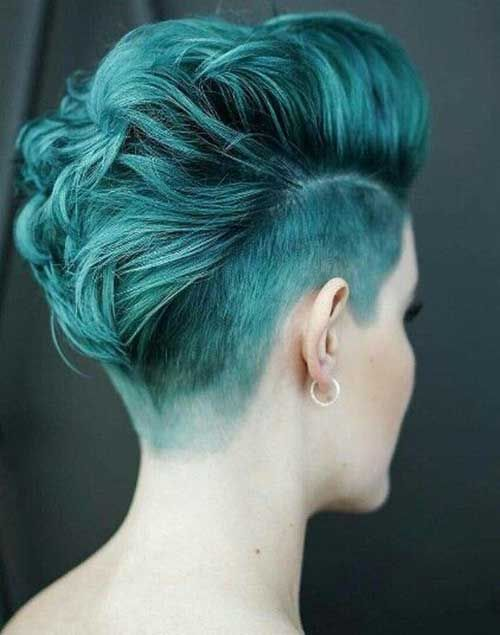 AMAZING COLORFUL UNDER CUT HAIR STYLES FOR WOMEN 6