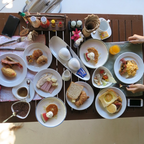 breakfast at yaiya resorts, hua hin, thailand