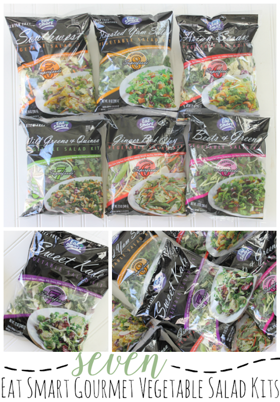 7 Eat Smart Gourmet Vegetable Salad Kits