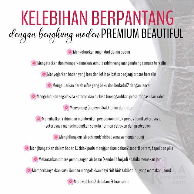 Premium Beautiful - bengkung moden - set berpantang - pilihan ibu - kelebihan