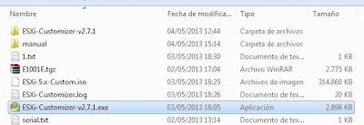 Añadir drivers a CD de instalación de VMware ESXi 5.1 con ESXi-Customizer