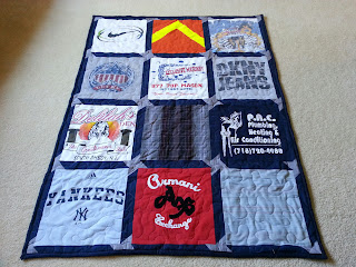 "The small lap quilt measures 41"" by 54"""