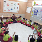 Introduction to Hexagon Shape by Nursery Section at Witty World Bangur Nagar (2018-2019)