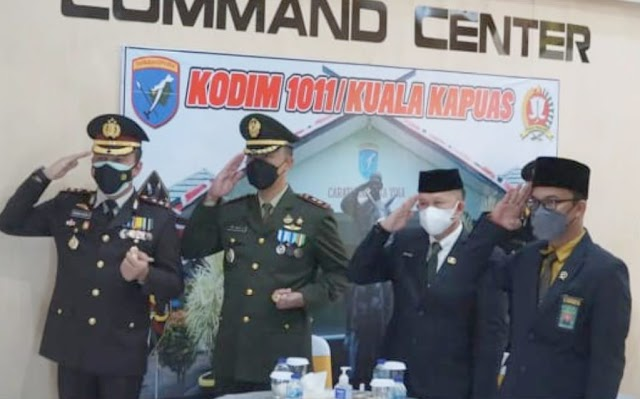 HUT ke-76 TNI, Dandim Kapuas Sinergi dan Fokus Tanggulangi Covid-19