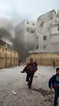 Explosion close to Aleppo school