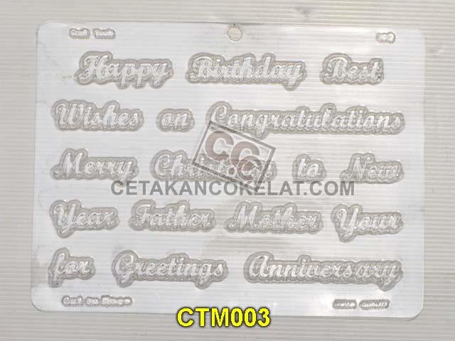 cetakan coklat cokelat CTM CTM003 ucapan birthday selamat ultah ulang tahun natal