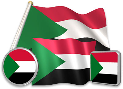 Sudanese flag animated gif collection