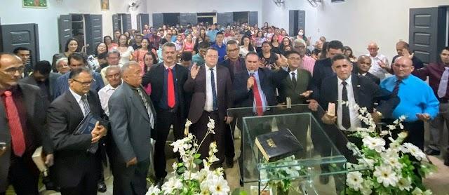 Pastor Josué Machado é impossado como novo Pastor da AD Adrianópolis-Granja