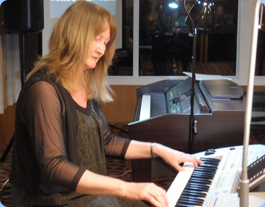 Our guest artist was Sandy Lynch who played our Yamaha Clavinova CVP-509 and also her own Yamaha Tyros 2 keyboard. Inspirational stuff! Sandy played requests for the second-half of her Concert and this was also really well received. Photo courtesy of Dennis Lyons.