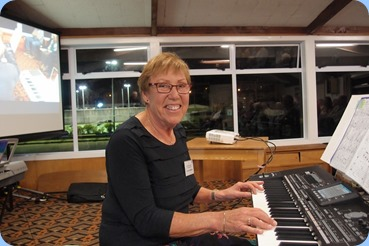Yvonne Moller playing her new Korg Pa3X. Photo courtesy of Dennis Lyons.