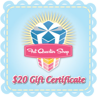 $20 Fat Quarter Shop Gift Certificate