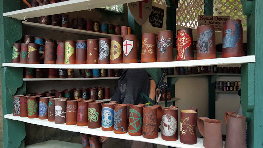 Leather mugs of all types at the Ohio Renaissance Festival