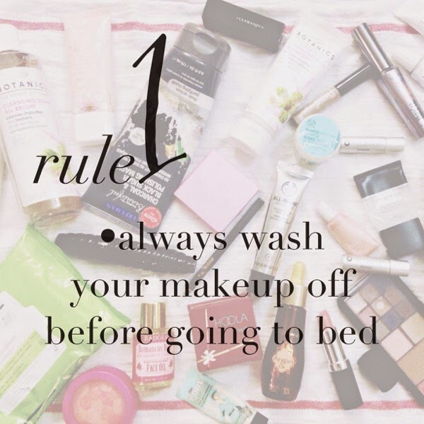 ... it is a good idea to remove your makeup before going to sleep at night while ...