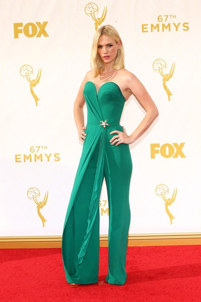 January Jones attends the 67th Annual Primetime Emmy Awards
