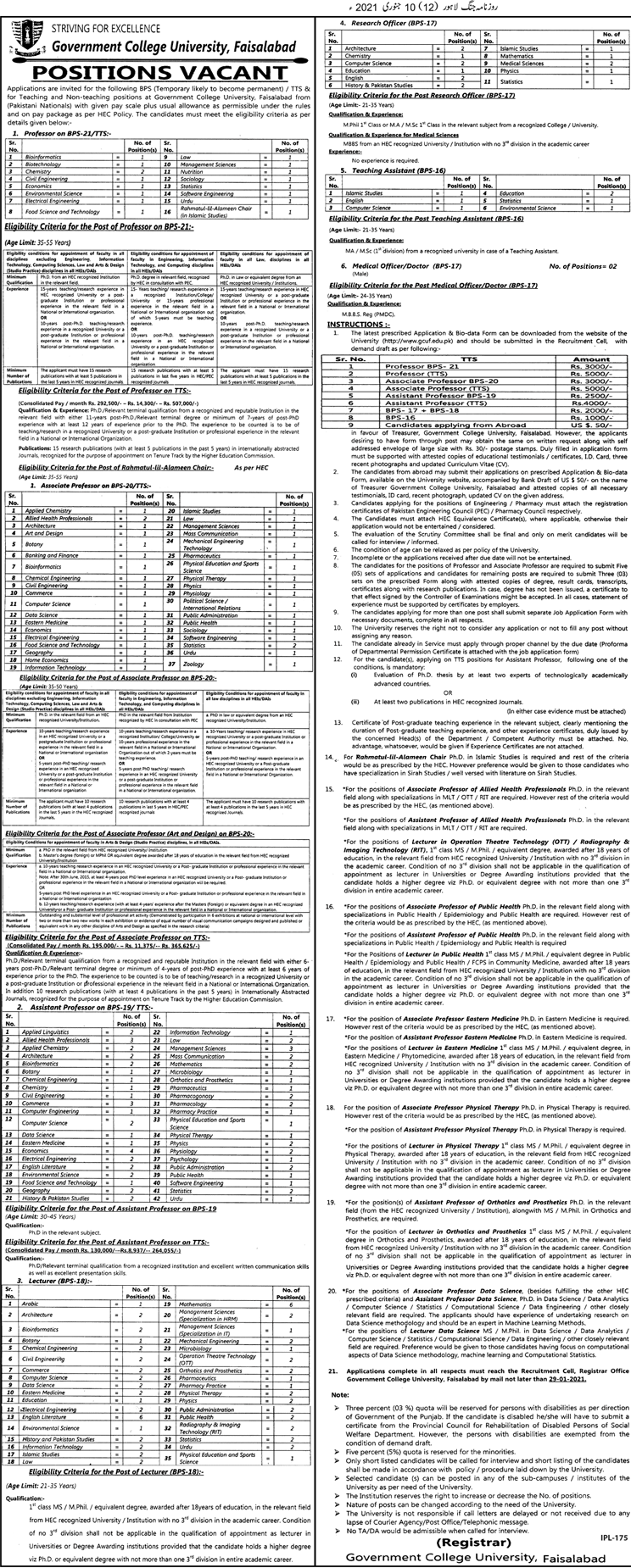 Govt University Jobs 2021 Direct Interview