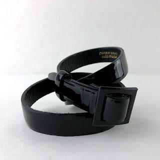 Oscar de a Renta Patent Leather Belt