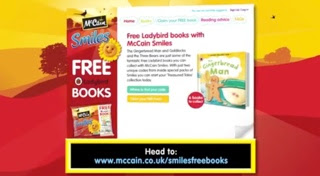 McCain Smiles and National Literacy Trust free  Ladybird Books Campaign
