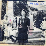 7ος 1961, Αγορ.Πάνου με κόρες της & Μπλούνα.