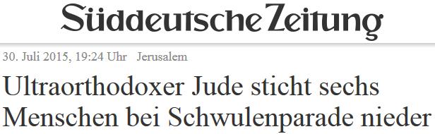 Ultraorthodoxer Jude sticht sechs Menschen bei Schwulenparade nieder
