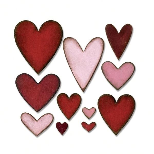 fustella Sizzix Bigz Die Heartfelt 660233