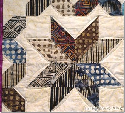 Island Batik quilt star quilt