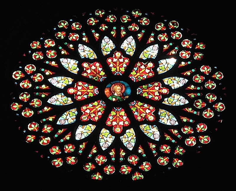 San Sebastian Church rose window