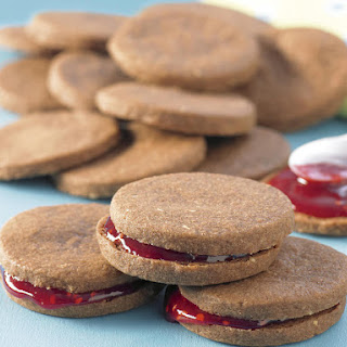 Chocolate Cookie Sandwiches with Raspberry Filling