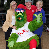 Horsham Rotary Annual Challenger League Picnic Phillie Phanatic @ Deep Meadow Park on May 28, 2009