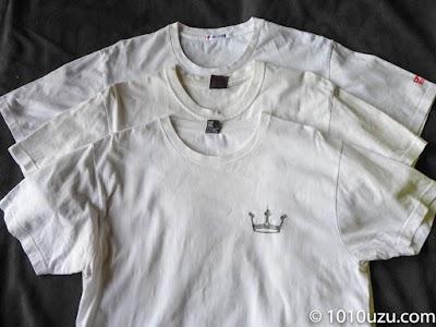 黄ばみが取れてきれいになったプリントTシャツ