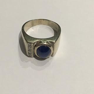 14K White Gold & Star Sapphire Ring