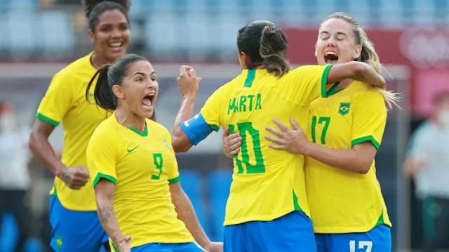 Brasil estreia em grande estilo