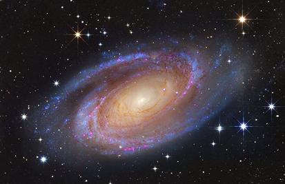 M81_Subaru & Hubble_Roberto Colombari & Robert Gendler