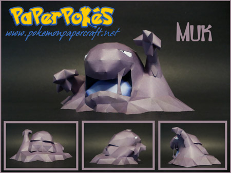 Pokemon Muk Papercraft