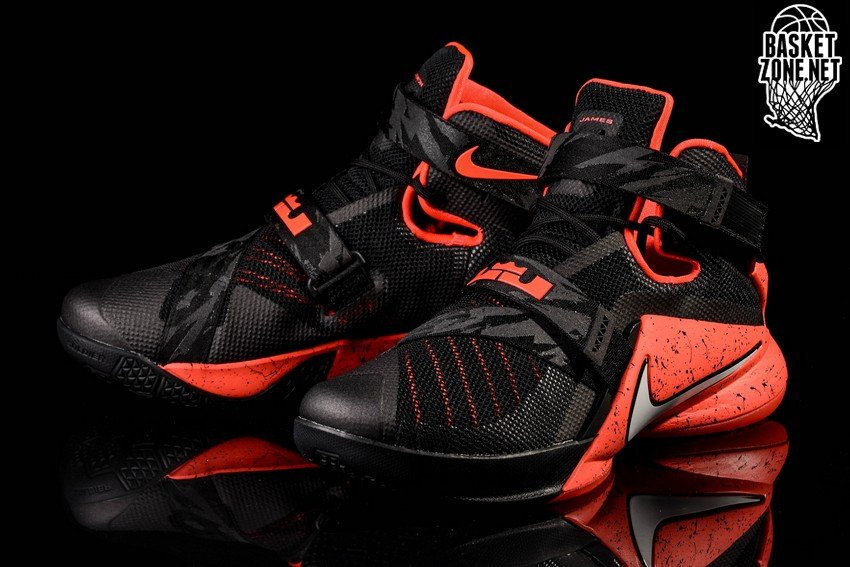 quality design f2ad3 e824c ... Nike Goes Premium for Black and Red LeBron Soldier 9 ...