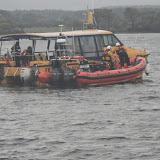 Poole ILB alongside The Friends of Dolphin boat in a training exercise - 22 April 2014 Photo: RNLI Poole/Anne Millman