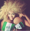 Nollywood actress cossy orjiakor goes topless to celebrate Nigeria's Independence