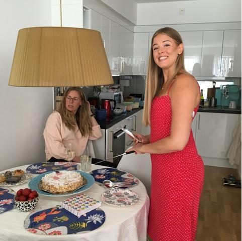 happy Swedish girl
