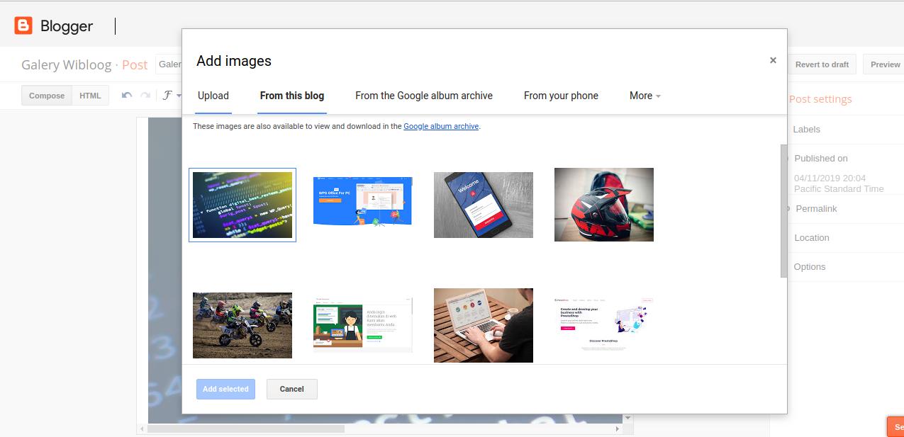 2. Cara Mengambil Link URL Sumber Gambar