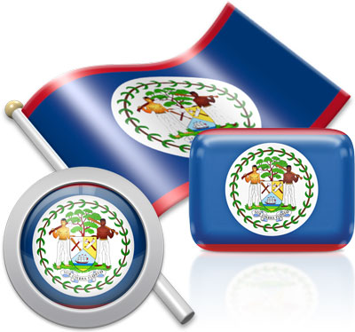 Belizean flag icons pictures collection