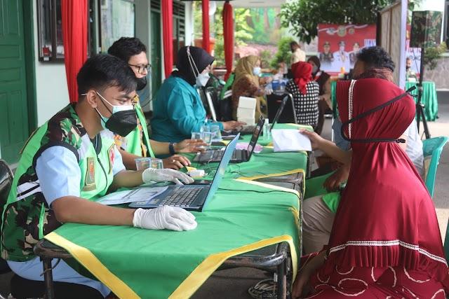 Kodim 0410 Kota Bandar Lampung Terus Menggelar Vaksinasi Covid-19